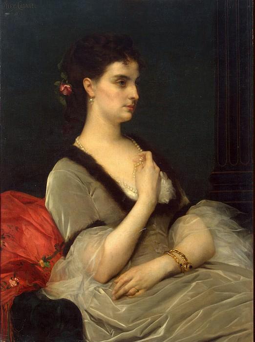 Cabanel, Alexander - Portrait of Countess Elizabeth Andreevny Vorontsov-Dashkov. Hermitage ~ Part 05