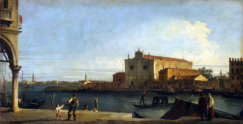 Canale, Antonio - View of the Church of San Giovanni dei Trampoline on the island of Murano. Hermitage ~ Part 05