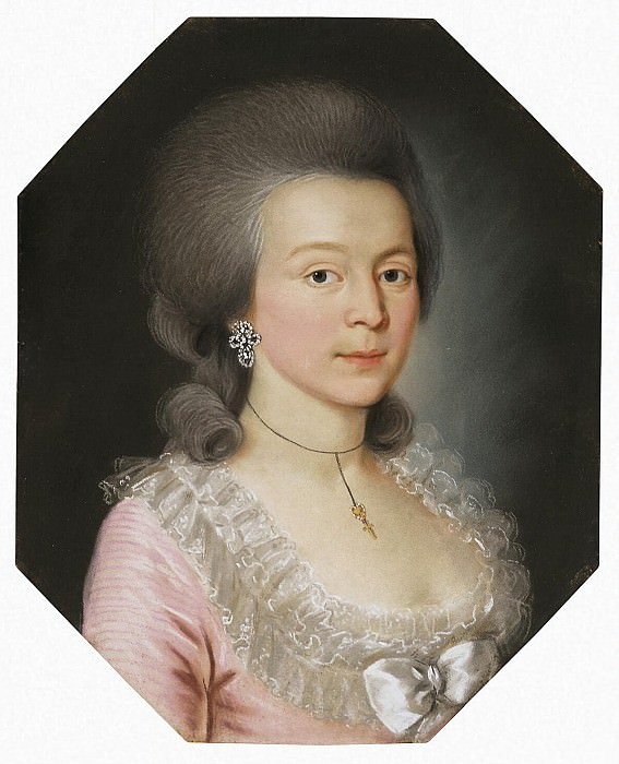 Portrait of a young woman in a powdered wig. Hermitage ~ Part 05