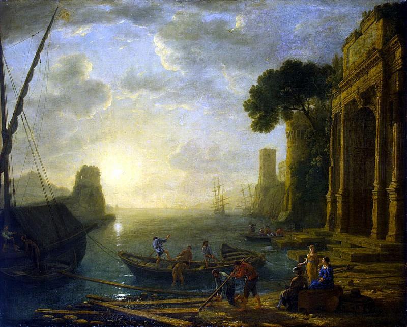 Gellee, Claude - Morning in the Harbour. Hermitage ~ Part 05