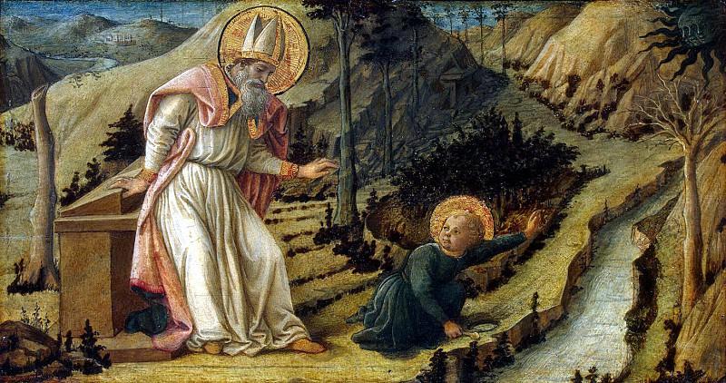 Lippi, Fra Filippo - The Vision of St. Augustine. Hermitage ~ part 07