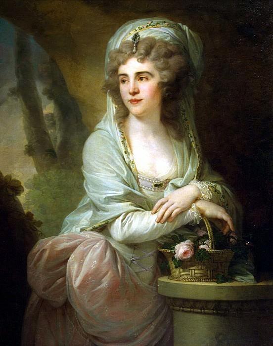 Lampi, Johann Baptist Elder - Portrait of Catherine Sergeevna Samoilova. Hermitage ~ part 07