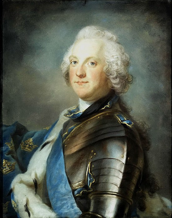 Lundberg Gustav - Portrait of the Swedish King Adolf Frederick. Hermitage ~ part 07