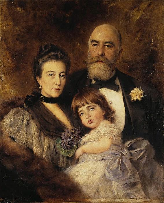 Makovsky, Konstantin Zhukovsky - Group Portrait of MS Volkov, SN Volkova and SM Volkov-Manzeya. Hermitage ~ part 07