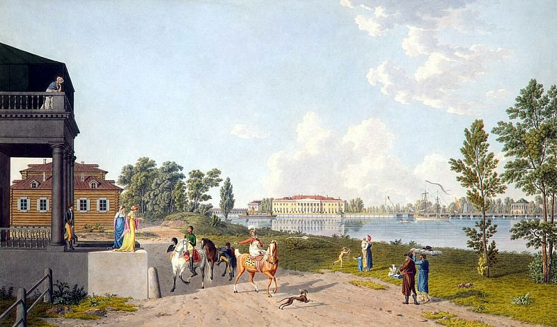 Laurie, Gabriel Ludwig Senior - View of the Palace of Kamennoostrovsky Pharmaceutical Island in St. Petersburg. Hermitage ~ part 07