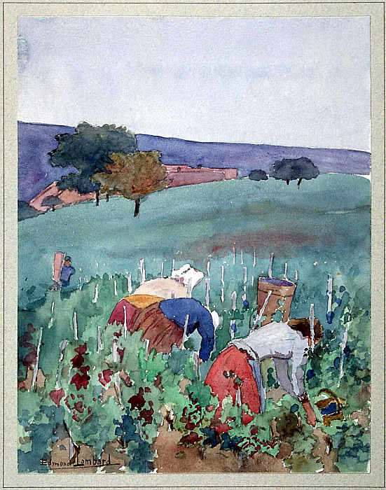 Lombard, Edmond - Landscape with women in the Vineyard. Hermitage ~ part 07