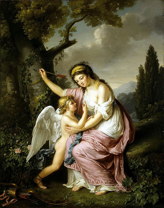 Lemoine, Marie-Victoire - Woman and Cupid. Hermitage ~ part 07