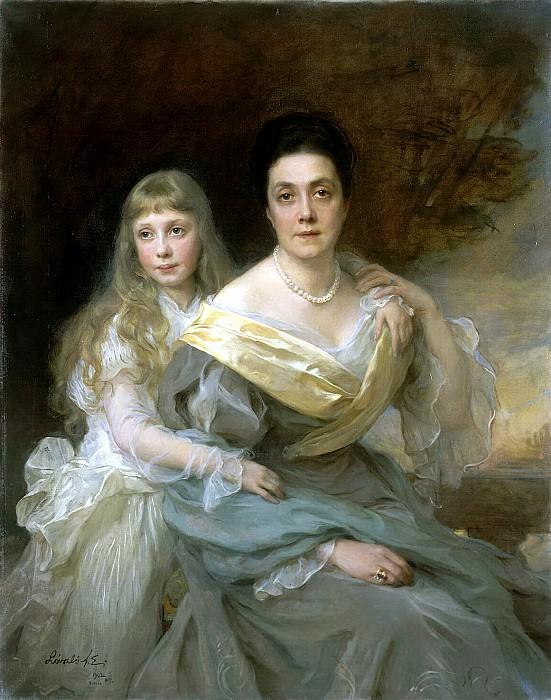 Laszlo Fülöp - Portrait of a Lady with her daughter (2). Hermitage ~ part 07