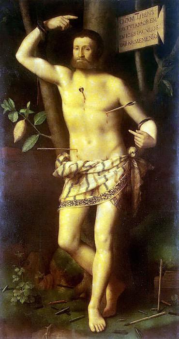 Luini, Bernardino - St Sebastian. Hermitage ~ part 07