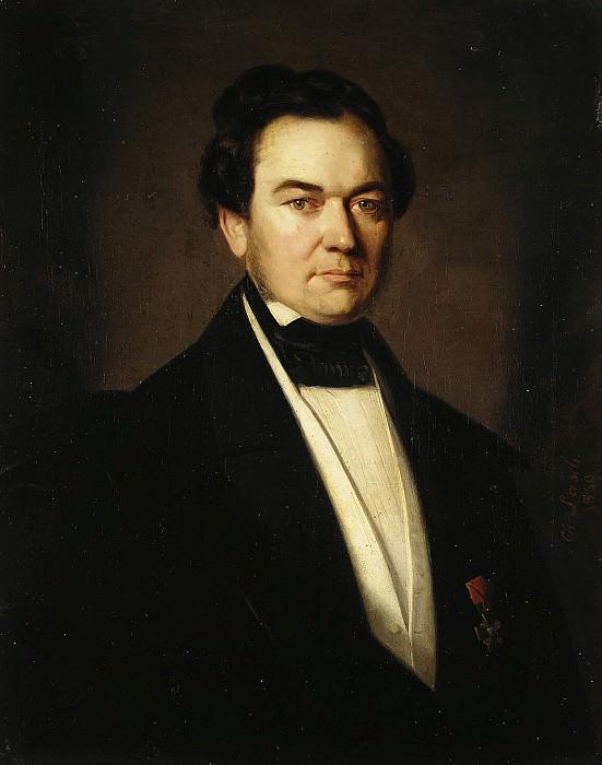 Lash, Karl Ivanovich - Portrait of Rudolf Fedorovich Herman. Hermitage ~ part 07
