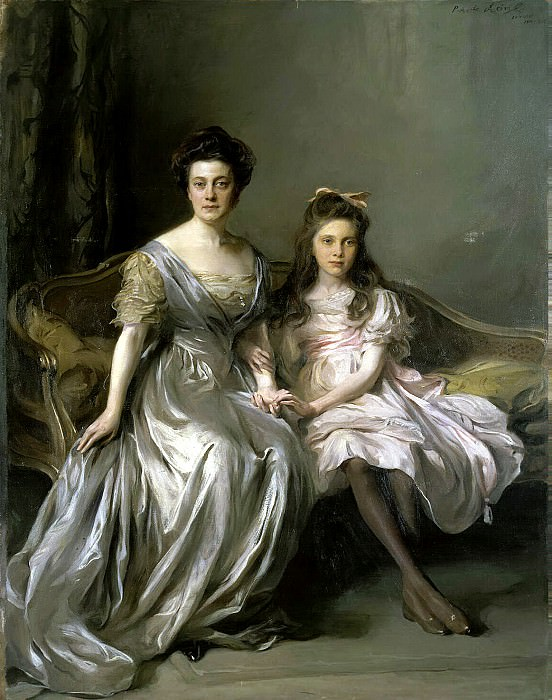 Laszlo Fülöp - Portrait of a Lady with her daughter. Hermitage ~ part 07