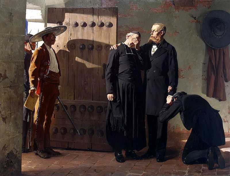 Laurence, Jean-Paul - Emperor Maximilian of Mexico before execution. Hermitage ~ part 07