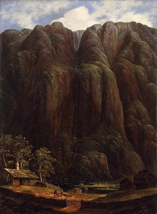 Lehman Carl Peter - Rocks and a waterfall in Norway. Hermitage ~ part 07