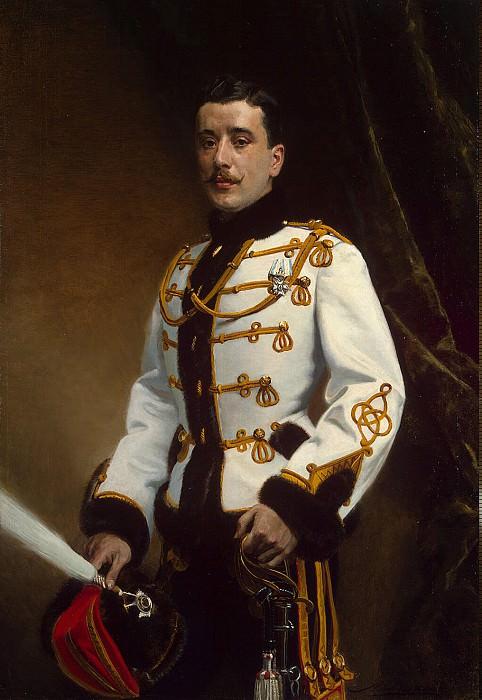 Lipgart, Ernst Karlovich - Portrait of a cornet of the Life Guards Hussar Regiment P. Rajewski. Hermitage ~ part 07