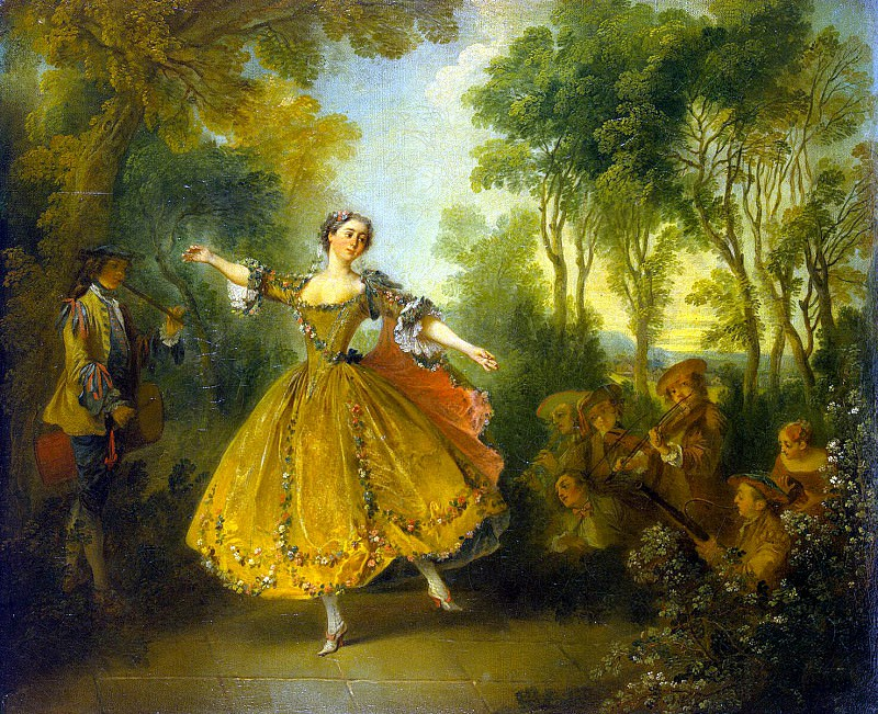 Lancret, Nicola - Portrait of the dancer Camargo. Hermitage ~ part 07