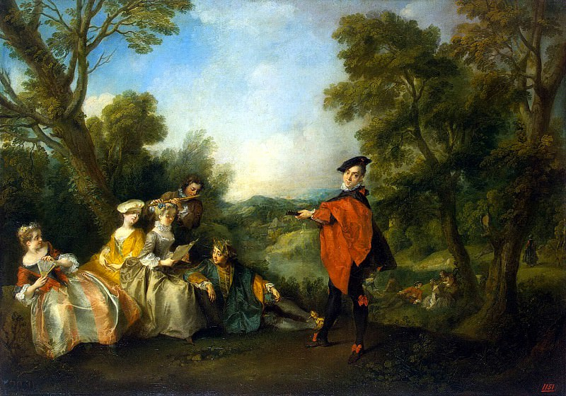 Lancret, Nicolas - Concert in the Park. Hermitage ~ part 07