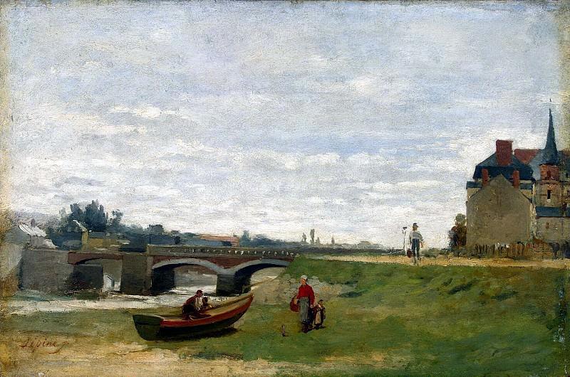 Lepine, Stanislas Victor Edouard - Landscape with a bridge. Hermitage ~ part 07