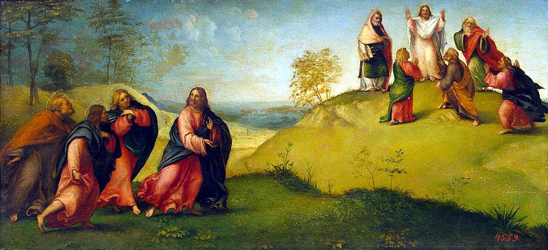 Лотто, Лоренцо - Христос, ведущий апостолов на гору Фавор. Эрмитаж ~ часть 7