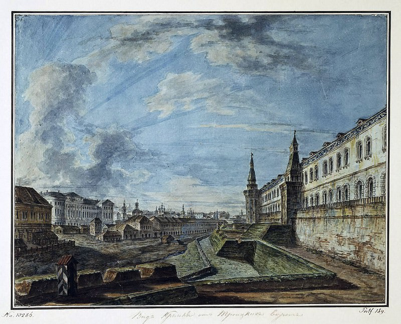 Alekseev, Fedor - View of Moscow from the Trinity gates of the Kremlin. Hermitage ~ Part 01