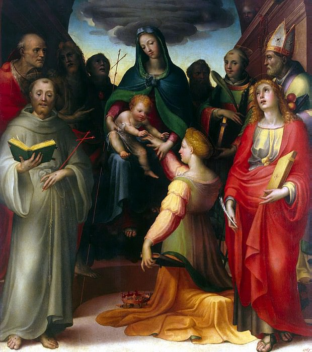 Beccafumi, Domenico - Betrothal of St. Catherine. Hermitage ~ Part 01