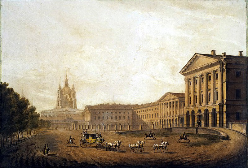 Beggrov, Karl Petrovich - View of the Smolny institute. Hermitage ~ Part 01
