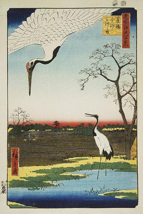 Ando Hiroshige - Sheet villages Minowa, Kanasugi and Mikavasima. Hermitage ~ Part 01