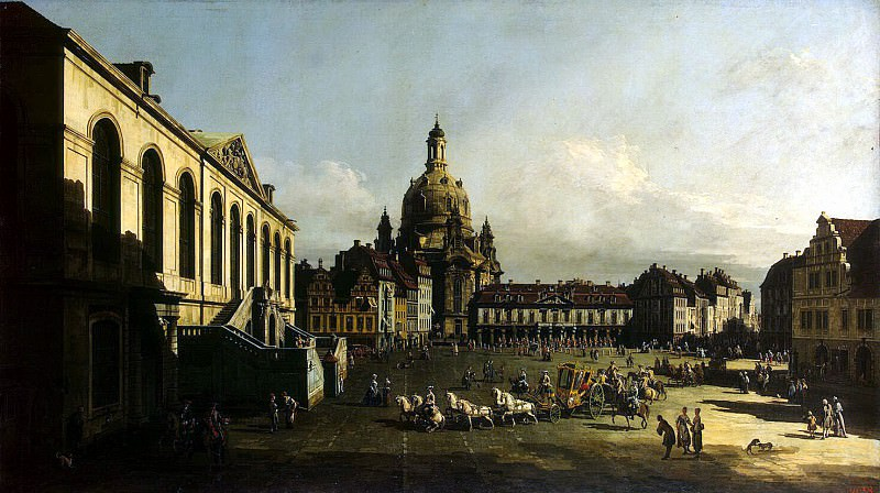 Bellotto, Bernardo - New Market Square in Dresden. Hermitage ~ Part 01