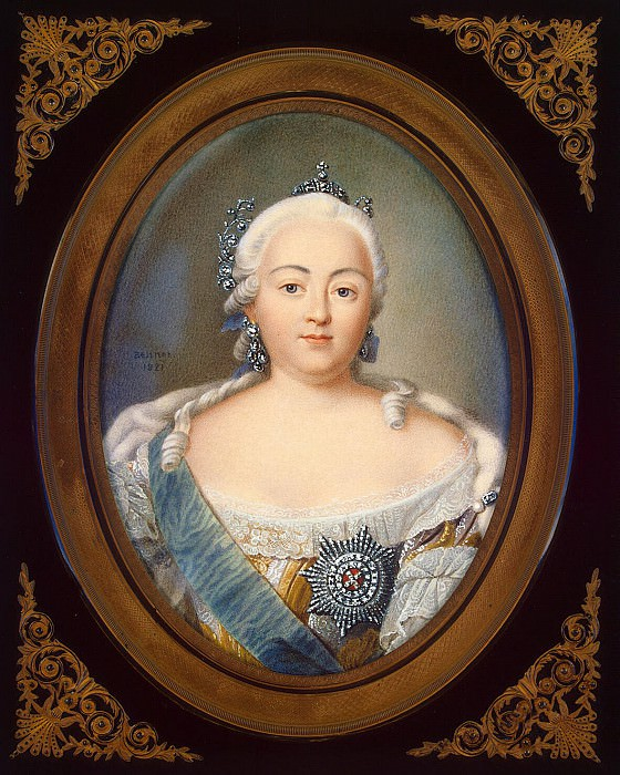 Benner, Jean Henri - Portrait of Empress Elizabeth. Hermitage ~ Part 01