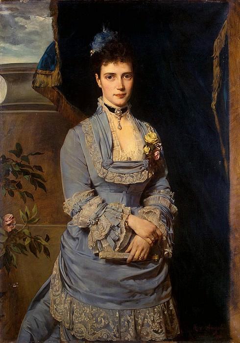 Angeli, Heinrich von - Portrait of Grand Duchess Maria Feodorovna. Hermitage ~ Part 01