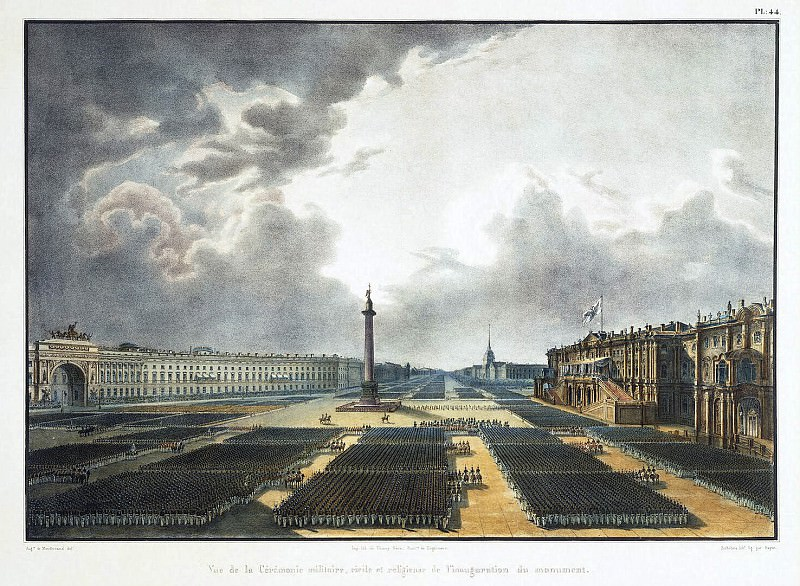 Bishebua, LP-A. Baillot AJ-B. - Grand opening of the Alexander Column. Hermitage ~ Part 01