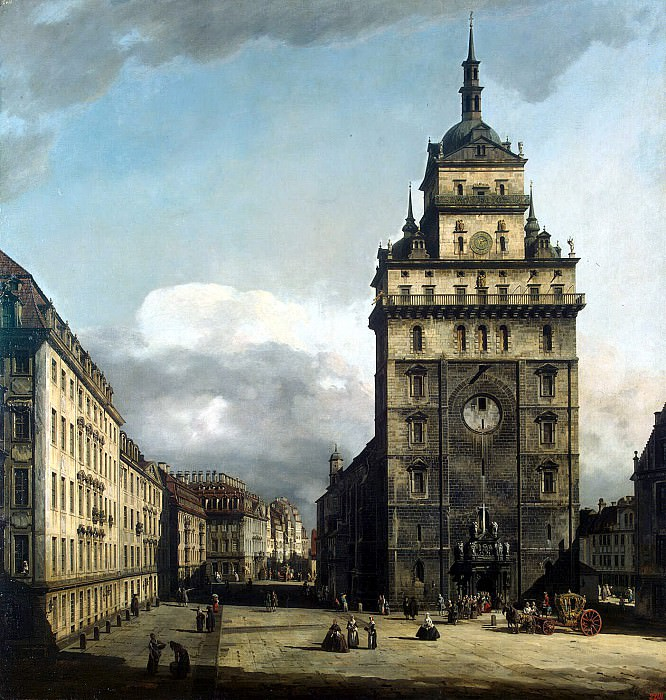 Bellotto, Bernardo - Square in front of the church the Cross in Dresden. Hermitage ~ Part 01