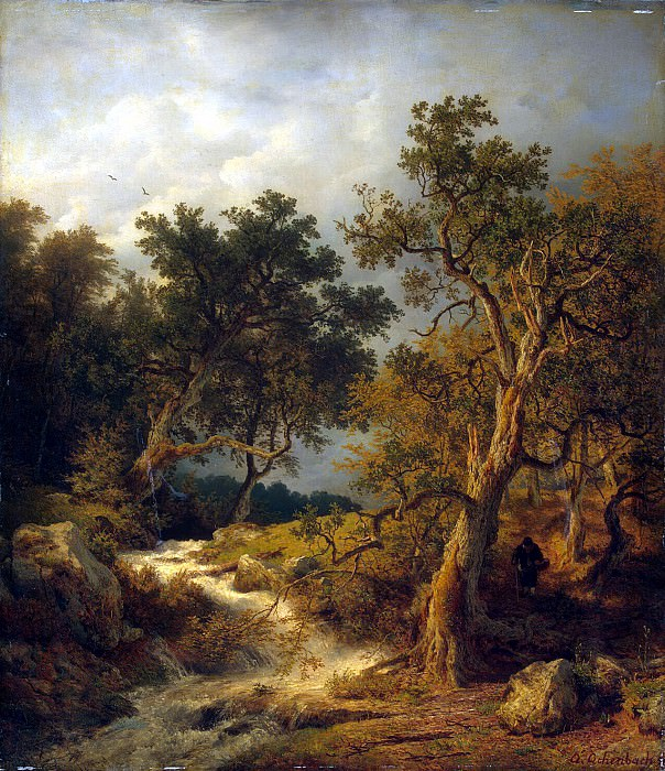 Achenbach, Andreas - Landscape with a stream. Hermitage ~ Part 01