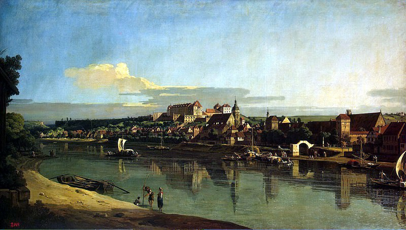 Bellotto, Bernardo - View of Pirna from the right bank of the Elbe. Hermitage ~ Part 01