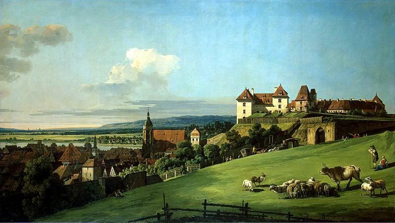 Bellotto, Bernardo - View of Pirna from the castle Sonnenstein. Hermitage ~ Part 01