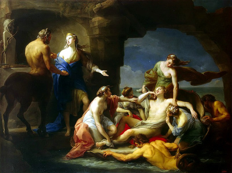 Batoni, Pompeo - Chiron Achilles returns to his mother Thetis. Hermitage ~ Part 01