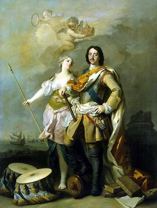 Amigoni, Jacopo - Peter I with Minerva. Hermitage ~ Part 01