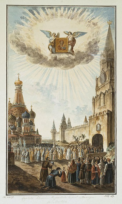 Alekseev, Fedor - Feast of Our Lady of Kazan icon in Red Square. Hermitage ~ Part 01