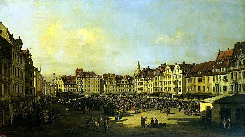 Bellotto, Bernardo - Old Market Square in Dresden. Hermitage ~ Part 01
