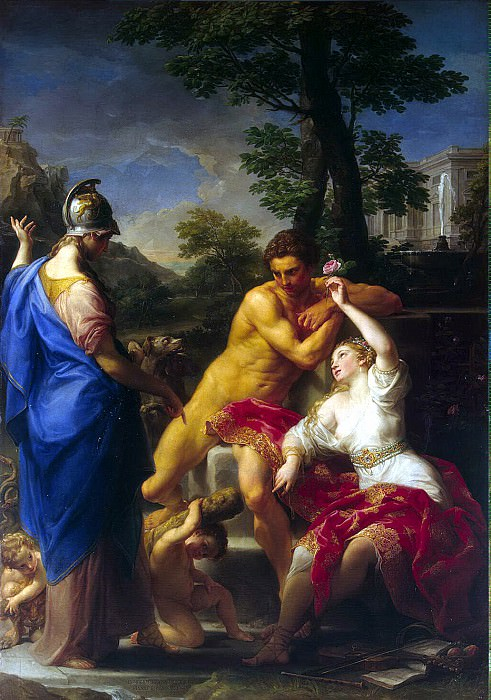 Batoni, Pompeo - Hercules at the crossroads between virtue and vice. Hermitage ~ Part 01