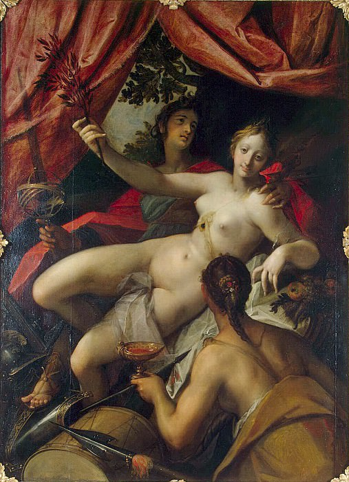 Aachen, Hans von - Allegory of Peace Art and Abundance. Hermitage ~ Part 01