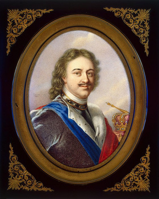 Benner, Jean Henri - Portrait of Peter I. Hermitage ~ Part 01