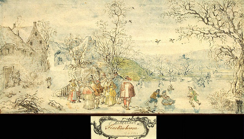 Alsloot, Denis van - Winter Landscape with Figures. Hermitage ~ Part 01
