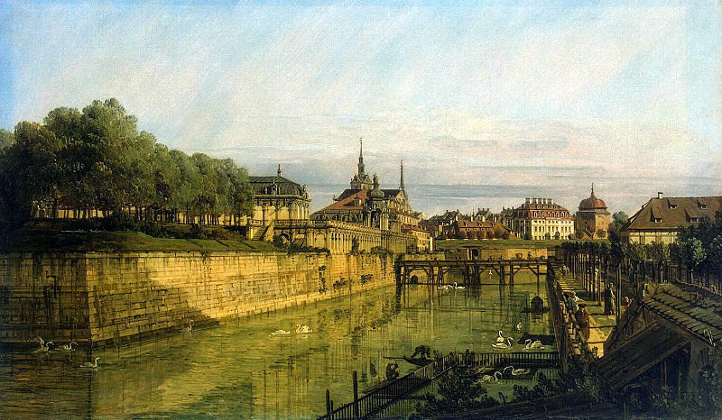 Bellotto, Bernardo - Moat at the Zwinger in Dresden. Hermitage ~ Part 01