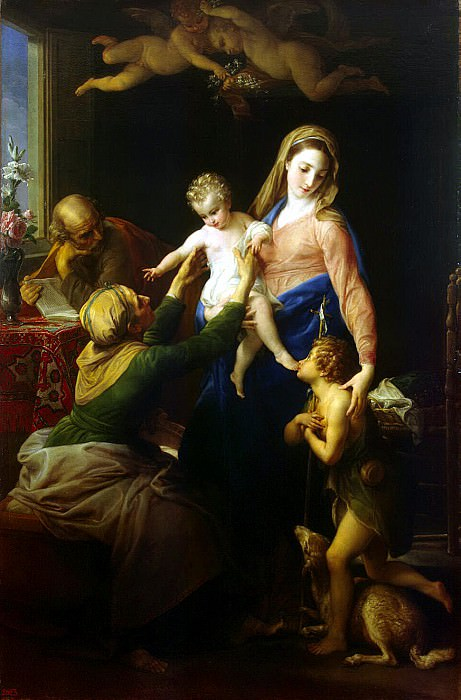 Batoni, Pompeo - Holy Family with St.. Elizabeth and St. John the Baptist. Hermitage ~ Part 01