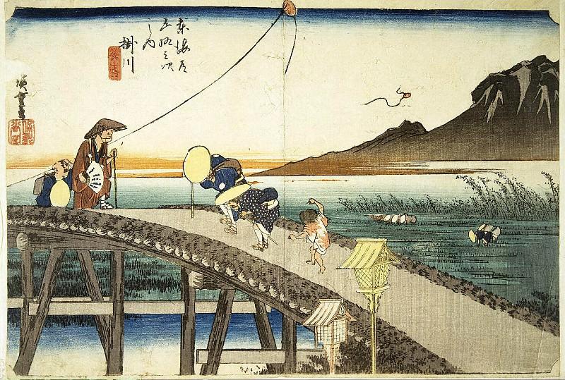 Андо Хиросигэ - Лист Вид издали на гору Акиба-сан в Кагэгава. Эрмитаж ~ часть 1