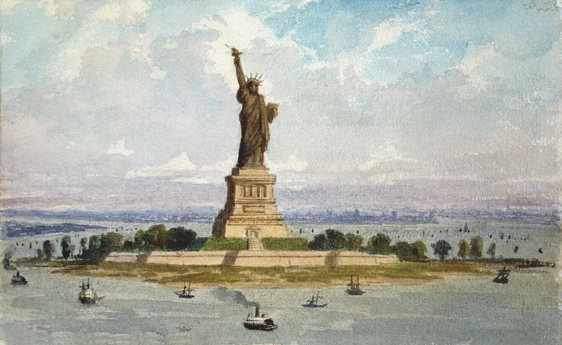 Бартольди, Фредерик Огюст - Статуя Свободы в Нью-Йорке. Эрмитаж ~ часть 1