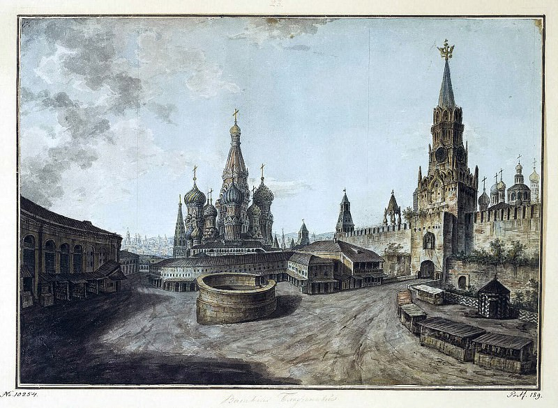 Alekseev, Fedor - St. Basils Cathedral and the Spassky Gate. Hermitage ~ Part 01
