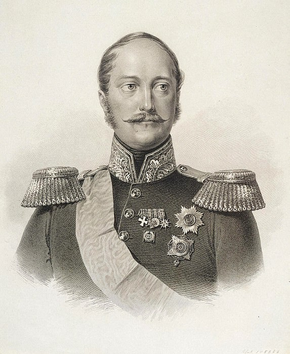 Afanasyev Konstantin Yakovlevich - Portrait of Emperor Nicholas I. Hermitage ~ Part 01