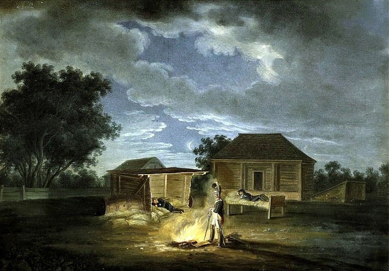 Adam Albrecht - Velky Solechniki. Headquarters. Night from 8 to 9 July 1812. Hermitage ~ Part 01