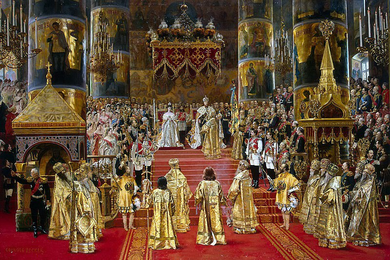 Becker, Georges - Coronation of Emperor Alexander III and Empress Maria Feodorovna. Hermitage ~ Part 01